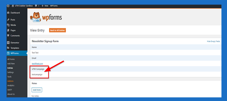9- You can see your populated UTM fields under entries.png